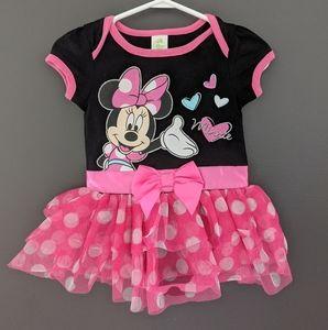 Disney pink Minnie Mouse onesie with tutu